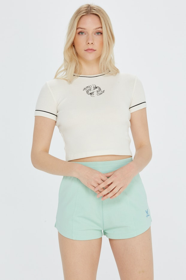 CAMISETA POLINESIA CANALE PIPING MUJER
