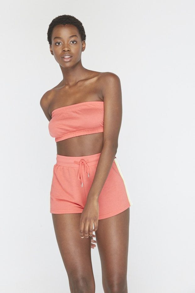 TOP POLINESIA BANDEAU RAYAS LATERAL MUJER