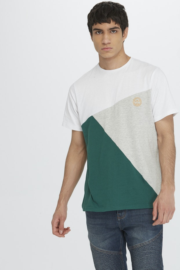CAMISETA POLINESIA COLOR BLOCK