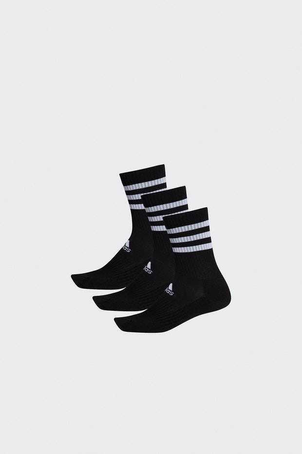 CALCETIN ADIDAS 3 STRIPES BLACK PACK 3 HOMBRE