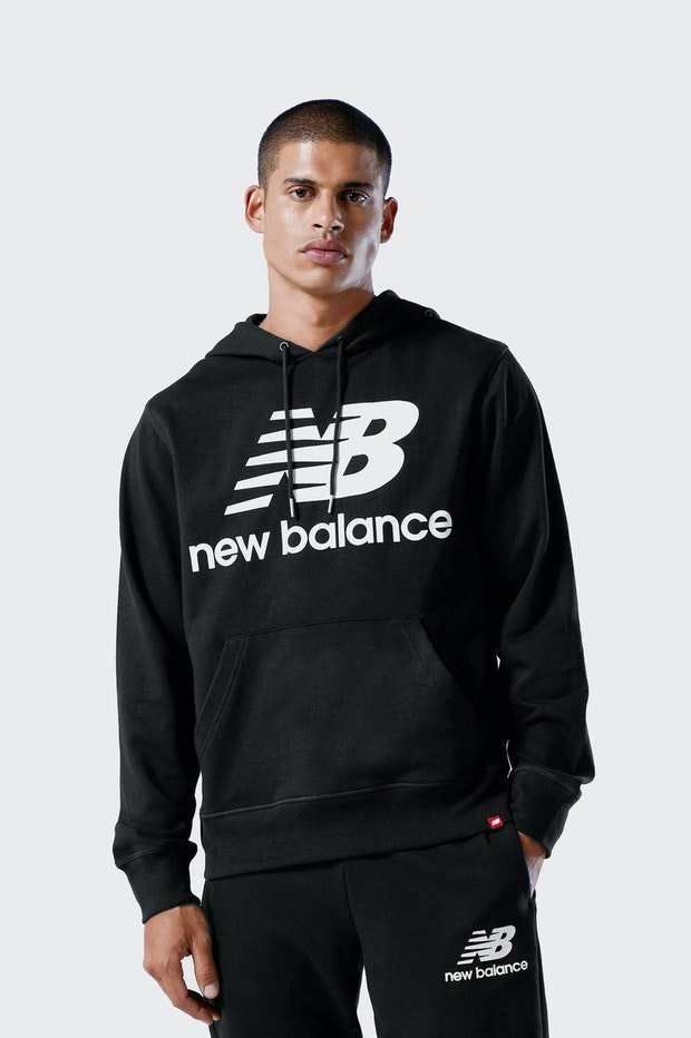 SUDADERA NEW BALANCE BLACK HOMBRE