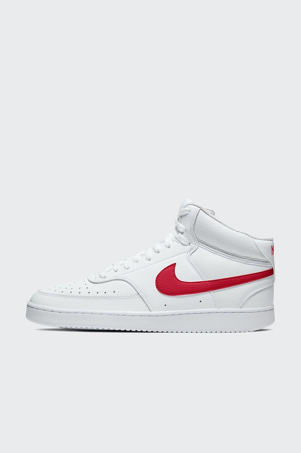 ZAPATILLA NIKE COURT VISION MID MENS SHOE WHITE-RED HOMBRE